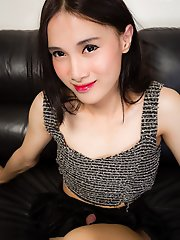 Pooh is an extremely cute, sexy and passable ladyboy in Bangkok. She's just 19 years old. Her body is beautiful and she packs a huge uncut cock